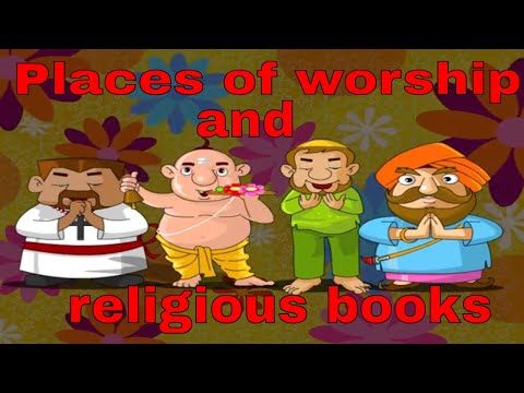 Places of worship and religious books | KG EVS | videos for kids |
