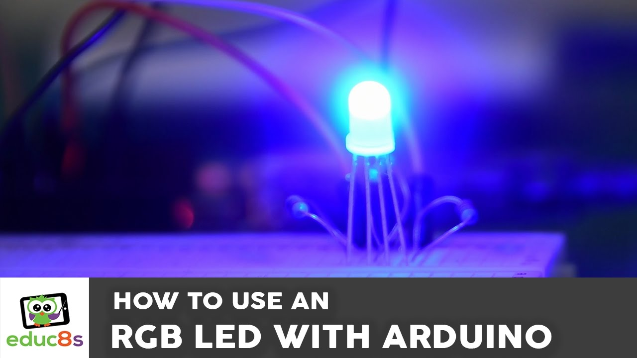Arduino Tutorial How To Use An Rgb Led With Youtube Completed Rainbow The Can Be Mounted Off Board Using Wires