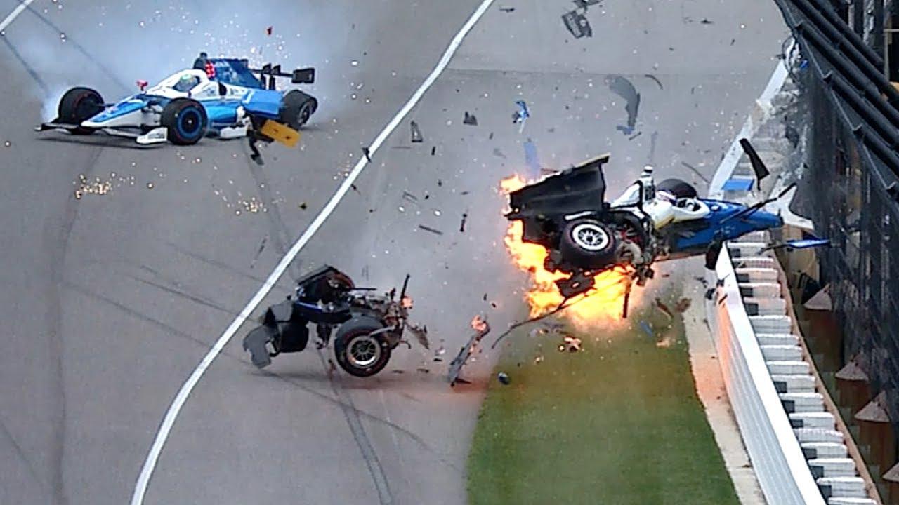 Scott Dixon/Jay Howard Indy 500 crash 2017