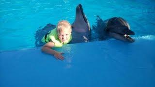 Ирина плавает с дельфинами 🐋 Дельфинарий 🐳 Шоу Дельфинов 🐬 Ейск