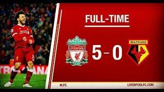 ЧТО ВЫТВОРЯЕТ САЛАХ? ОБЗОР МАТЧА Ливерпуль 5 : 0 Уотфорд / ГОЛЫ МАТЧА / Liverpool - Watford / 2018