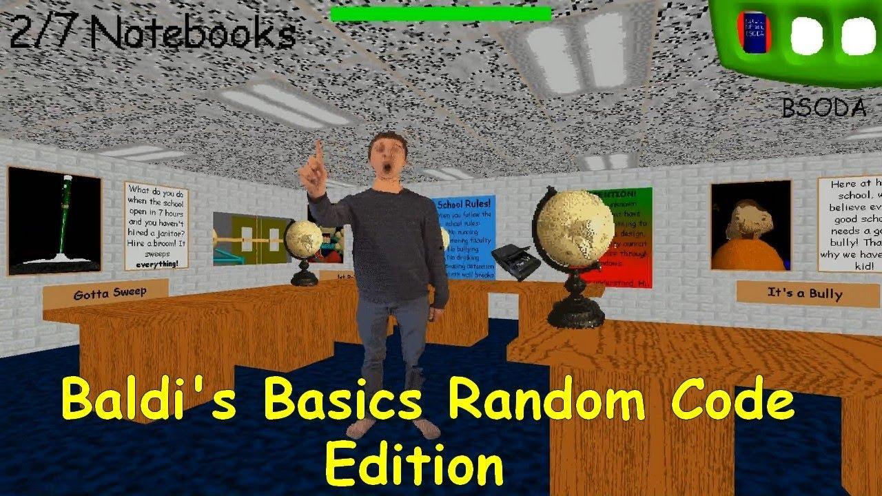 Baldi S Basics Random Codes Edition Baldi S Basics V1 4 1 Mod Youtube