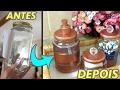 Decoração com Pote de Vidro -  Kit Higiene -  Reciclagem - DIY