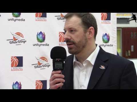 Hebeisen White Wings Hanau vs Niners Chemnitz Interview Simon Cote