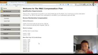 M&g Home Business Comp Plan - Marketing System Compensation Structure