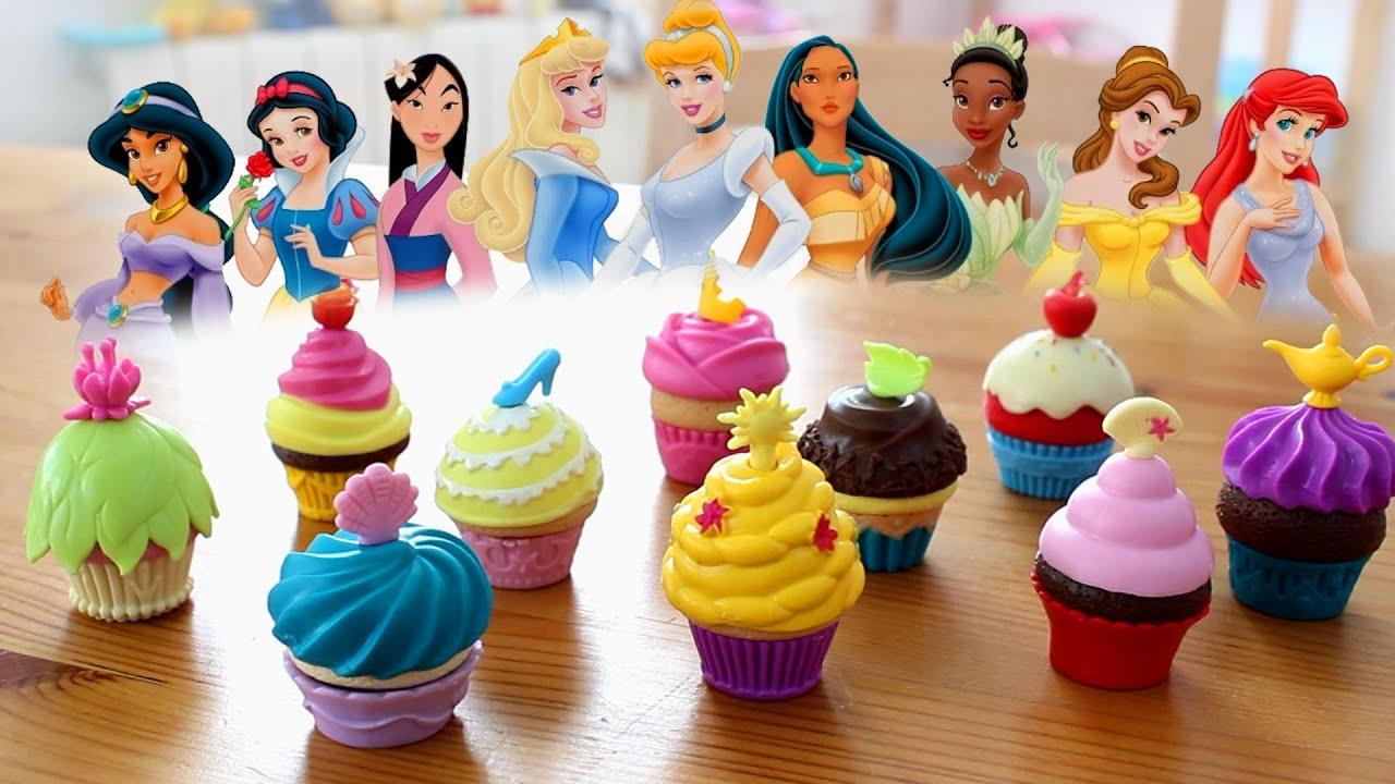 Fiesta de cupcakes princesas disney sirenita bella - Muebles de princesas disney ...