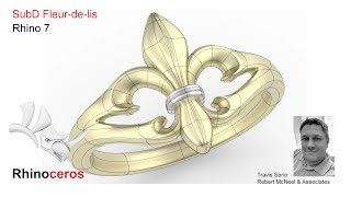 Rhino 7 SubD Fleur De Lis Ring