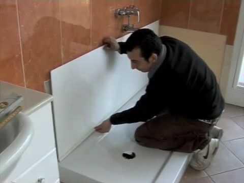 Come trasformare la tua vasca in un piatto - Posare un piatto doccia ...