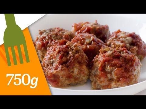 recette-de-boulettes-de-viande,-sauce-tomate---750g