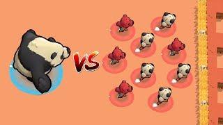 BEAR VS 9 NITA'S :: FUNNY CHASE GAME | Brawl Stars Funny Gameplay Video