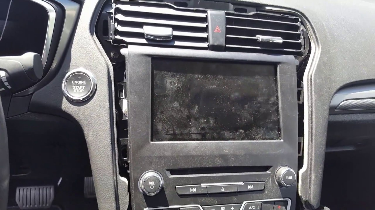 replace  radio  apim   ford fusion youtube