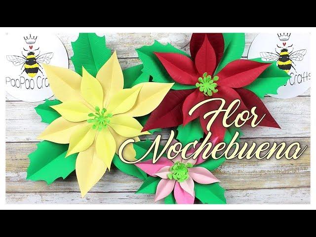 Mini Nochebuena | Moldes GRATIS | Flor de pascua | Flor Estrella federal | Poinsettia paper flower