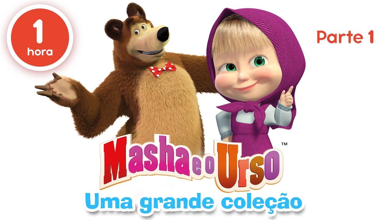 Masha Eo Urso Uma Grande Colecao De Desenhos Animados Parte 1 60 Minutos Youtube