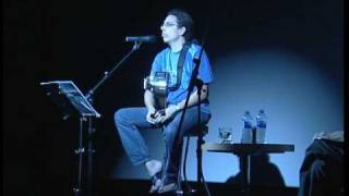 Pedro Guerra y Angel Gonzalez en la Musica Contada 3 (Cines Yelmo, Malaga), 2003