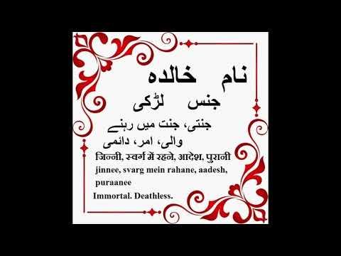 Khalida Name Meaning In Urdu, Khalida Arabic Name Meaning