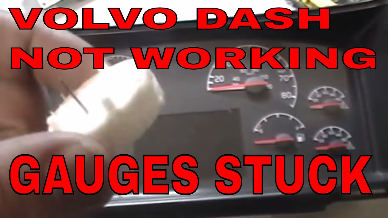 How to REBUILD or REPAIR VOLVO SEMI TRUCK TRACTOR SPEEDOMETER GAUGES CLUSTER  YouTube