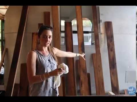 HofArc DIY Airstream - Staining reclaimed wood - HofArc DIY Airstream - Staining Reclaimed Wood - YouTube