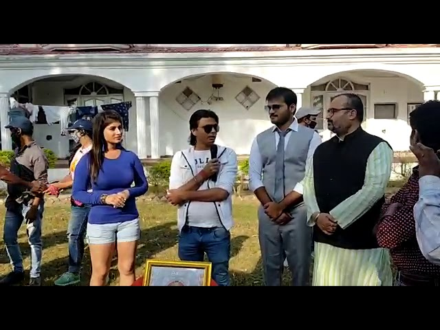 Bhojpuri Film Pyaar ka Devta on Location 1st Day Shooting Arvind Akela Kallu with Yamini singh