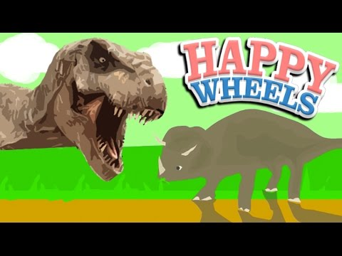 DINOSAURS +JURASSIC WORLD!! | Happy Wheels