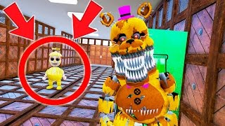 CAN NIGHTMARE FREDBEAR HIDE FROM GOLDEN BALLOON BOY AT SCHOOL? (GTA 5 Mods For Kids FNAF) RedHatter
