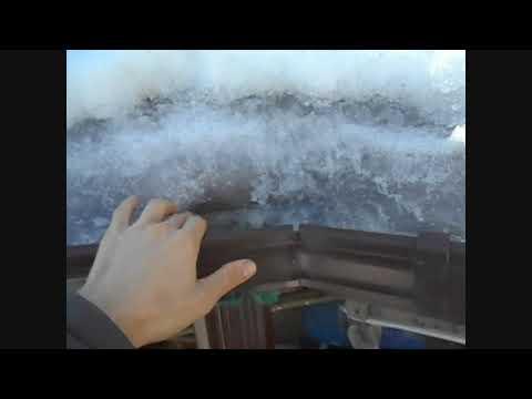 слив талой воды зимой в дренаж