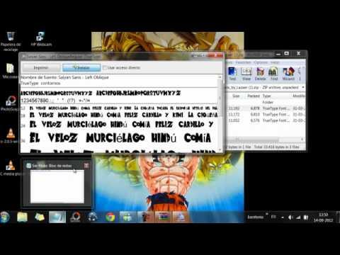 Descargar e instalar fuente de dragon ball z para photoscape