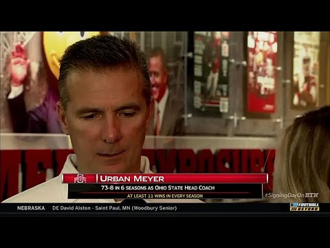 Urban Meyer Talks on 2018 National Signing Day Recruits