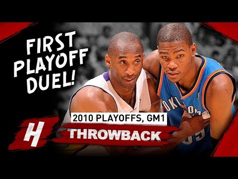 Kobe Bryant Vs Kevin Durant FIRST EVER PLAYOFF Duel, Game 1 Highlights 2010 NBA Playoffs - EPIC!