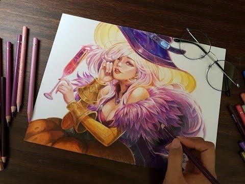 AOV - Colored Pencil Drawing Lauriel - Tracy Tsao