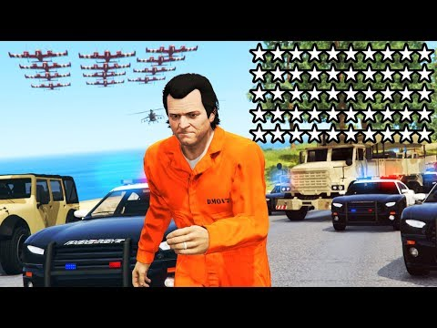 GTA 5 - 50 STAR WANTED LEVEL!! (Ultimate Chase)