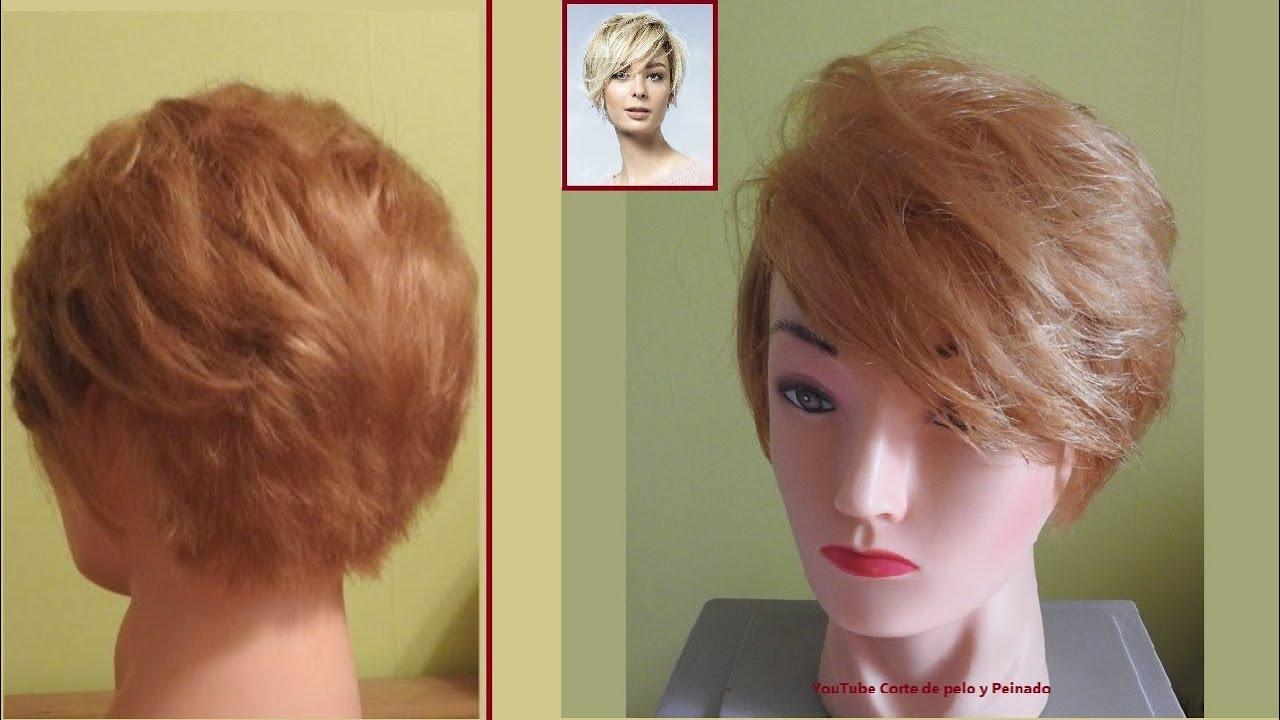 Corte corto para Mujer / Corte de pelo corto en capas para Dama / Corte Pixie / Corte corto Pixie