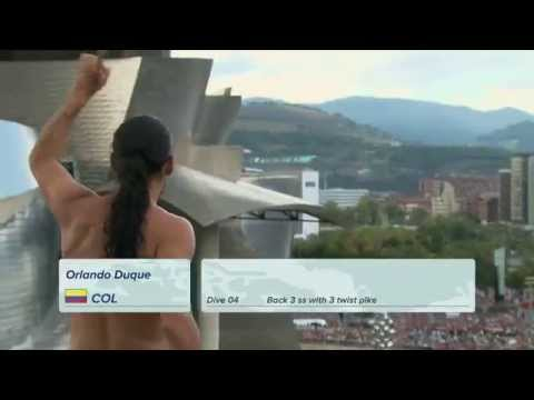 All redbull cliffdiving contest in Bilbao 2014 HD