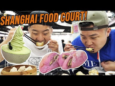 CHINESE STREET FOOD TOUR IN SHANGHAI CHINA! Can This Food Court Replace Street Food?
