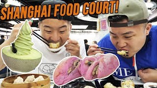 CHINESE STREET FOOD TOUR IN SHANGHAI CHINA! Can This Food Court Replace Street Food? | Fung Bros