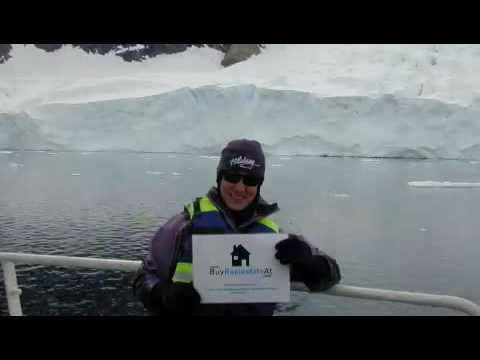 Buying Real Estate Antarctica sign