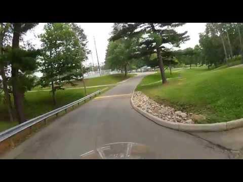 Motorcycle Tour Cambridge Ohio City Park with GoPro Helmet Camera