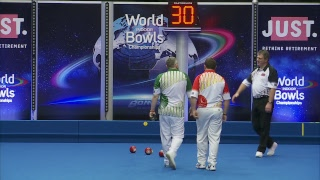Just. 2019 World Indoor Bowls Championships: Day 7 Session 1
