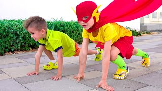 Vlad became a superhero kids and helps friends