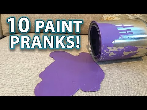 Top 10 PRANKS with PAINT! (How to Gags, Tricks, Hacks!)