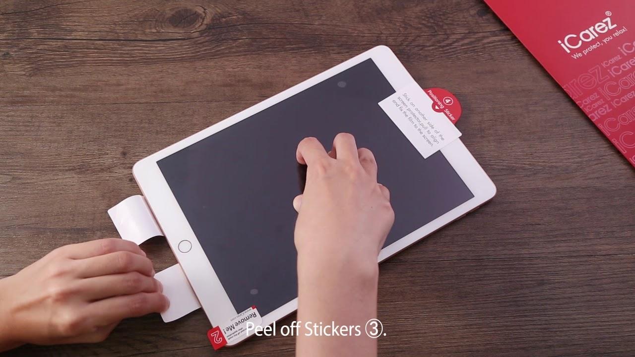 iCare iPad Matte Screen Protector Installation Video