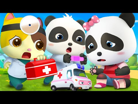 Baby Panda Got Injured | Doctor Cartoon | Boo Boo Song | Kids Songs | Baby Cartoon | BabyBus