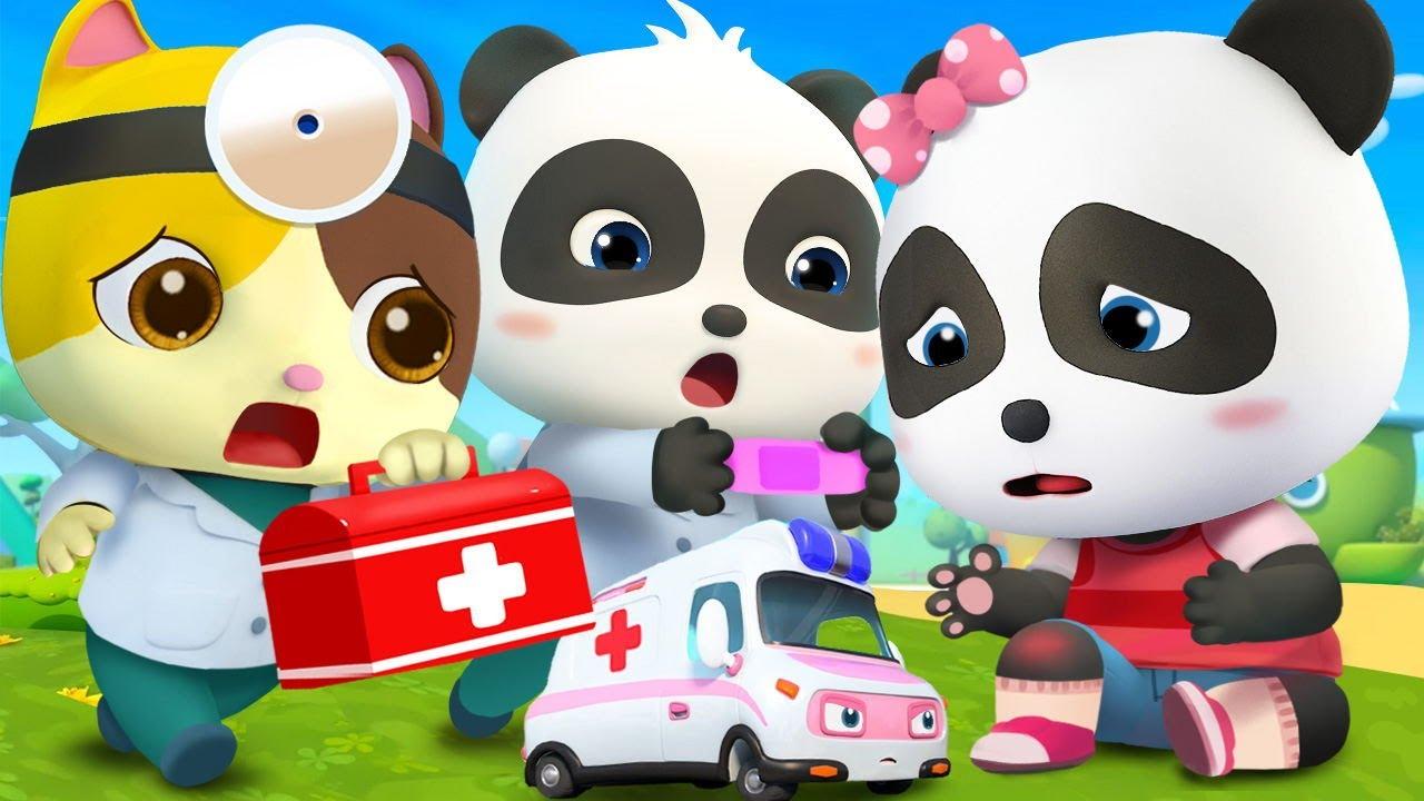 Download Baby Panda Got Injured | Doctor Cartoon | Boo Boo Song | Kids Songs | Baby Cartoon | BabyBus