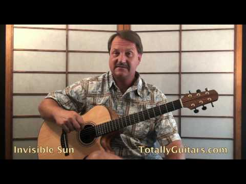 The Police Invisible Sun Guitar Lesson Youtube