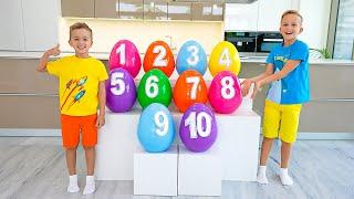 Download Pelajari angka 1-10 dengan Vlad & Niki dan bayi Chris