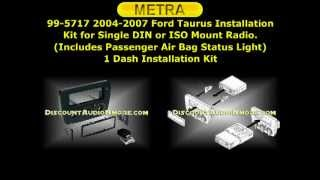 99-5717 $79.95 2004-2007 Ford Taurus Mercury Sable Single DIN Dash Kit Metra 995717 99 5717