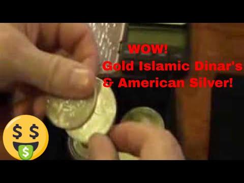 Gold Islamic Dinar's Dirhams & American Eagle Silver Coins