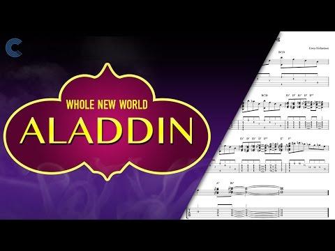 Violin  - A Whole New World - Aladdin -  Sheet Music, Chords, & Vocals
