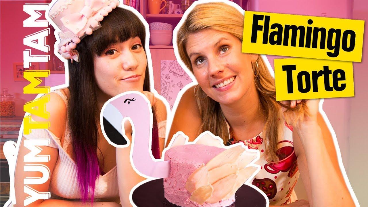 Suss Susser Flamingos Brushstroke Torte Zum Muttertag