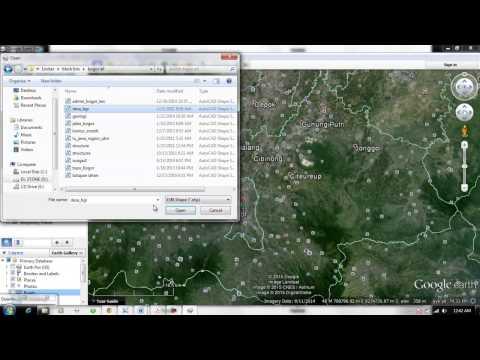 Import data koordinat dari file Excel dan membuat Link photo di Google Earth.