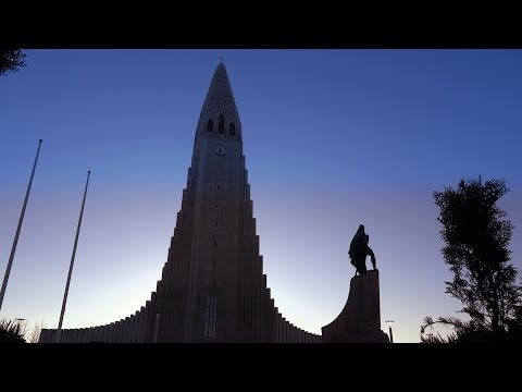 See and hear Iceland's largest church at sunrise